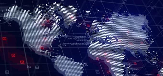 Wereldkaart , Pronova Laboratories verkoopt zijn producten over de gehele wereld
